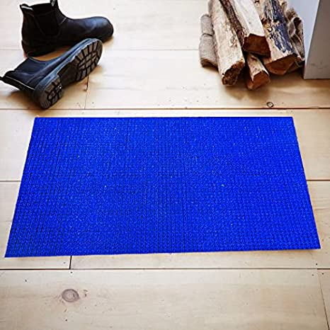 Kuber Industries PVC Doormat   24 quot;x15 quot;, Blue