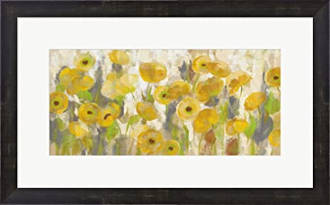 Amazon.com: Floating Yellow Flowers I by Silvia Vassileva Framed Art ...