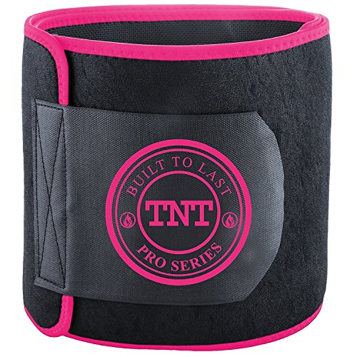 TNT Pro Series Waist Trimmer Weight Loss Ab Belt - Premium Stomach Fat Burner Wrap and Waist Trainer (Original) (High Stand Waist)