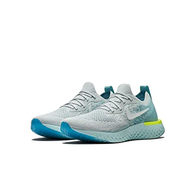 Nike Women's Epic React Flyknit Running Shoes(Platinum, 7 B(M) US) | Road Running