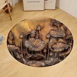 Gzhihine Custom round floor mat Low Relief Cement Thai Style Handcraft of Buddhism