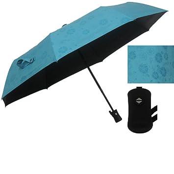 Paraguas Flores De Agua Sombrilla Paraguas Automáticas De Vinilo,A