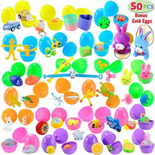50 Toys Filled Easter Eggs, Including 48 2.5