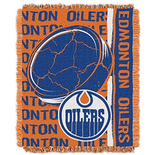 NHL Edmonton Oilers Licensed Jacquard Triple Woven Throw, 46