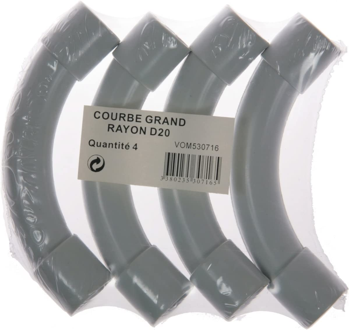 Voltman VOM530715 4 Courbes grand rayon Diam/ètre 16 mm