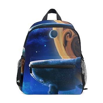 ISAOA Niño 3D ballena azul y luz niños mochilas Kinder preescolar niño niños/niñas mochila Linda carteras: Amazon.es: Equipaje