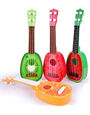 Mokylor Children Learn Guitar Ukulele ,Mini Fruit Can Play Musical Instruments Educational Toys 1Pcs