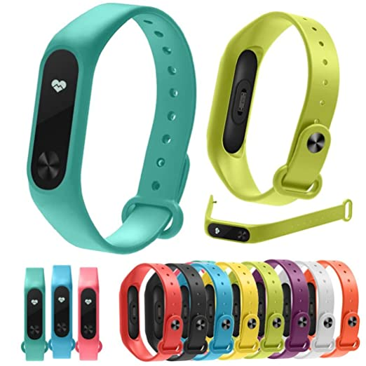 Amazon com: Alonea Xiaomi Watch Band, 10PC Replacement Silica Gel