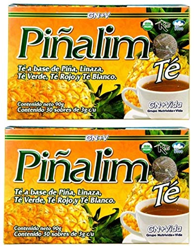 (2 Boxes Te Pinalim Tea GN+Vida Weight Loss Tea Diet 60 Day Supply)