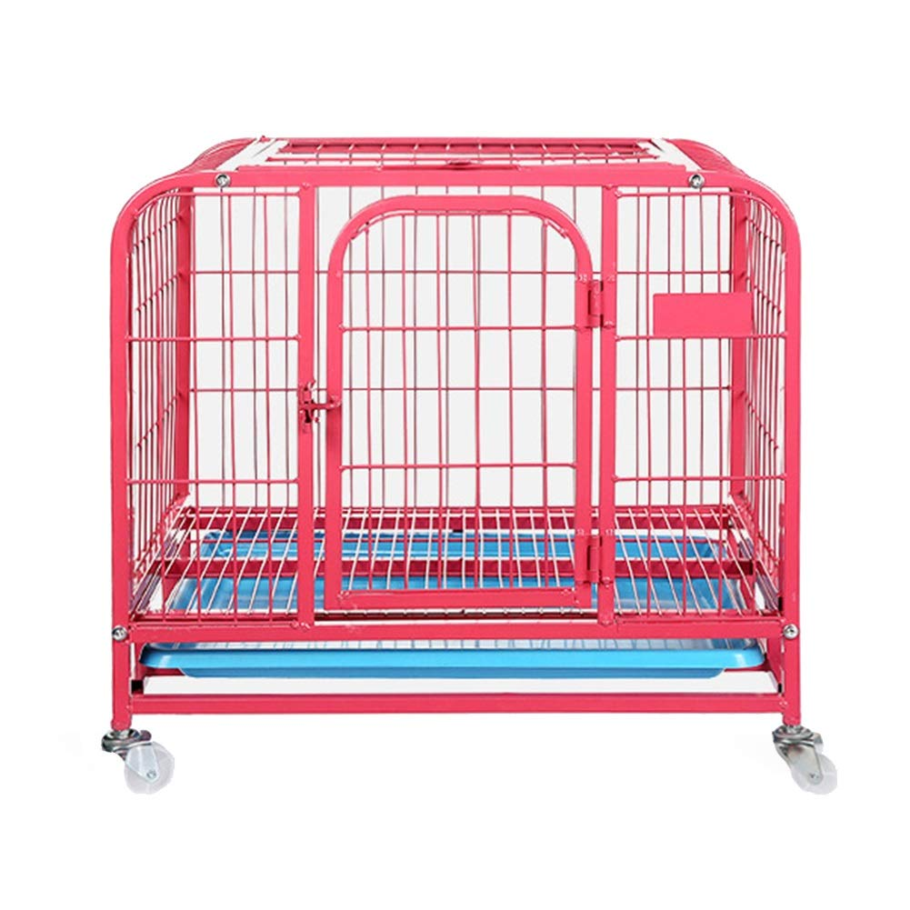 94×65×85cm Indoor Pet Supplies, Pet Cage Small Dog with Toilet Dog Cage, Small Animal Playpens Pink (Size   94×65×85cm)