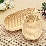 Round Oval Long Banneton Brotform Bread Proofing Proving Rattan Basket