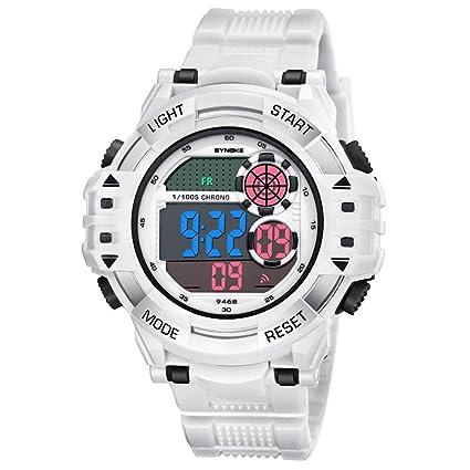 Reloj digital de pulsera para hombre, diseño deportivo militar, impermeable, con pantalla electrónica LED y retroiluminación, 12 horas / 24 horas, ...