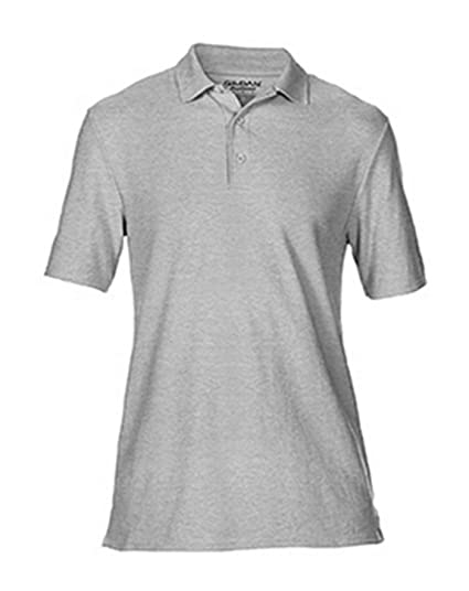 Gildan Mens Moisture Wicking Bottom Hem Pique Polo Shirt, X-Large ...