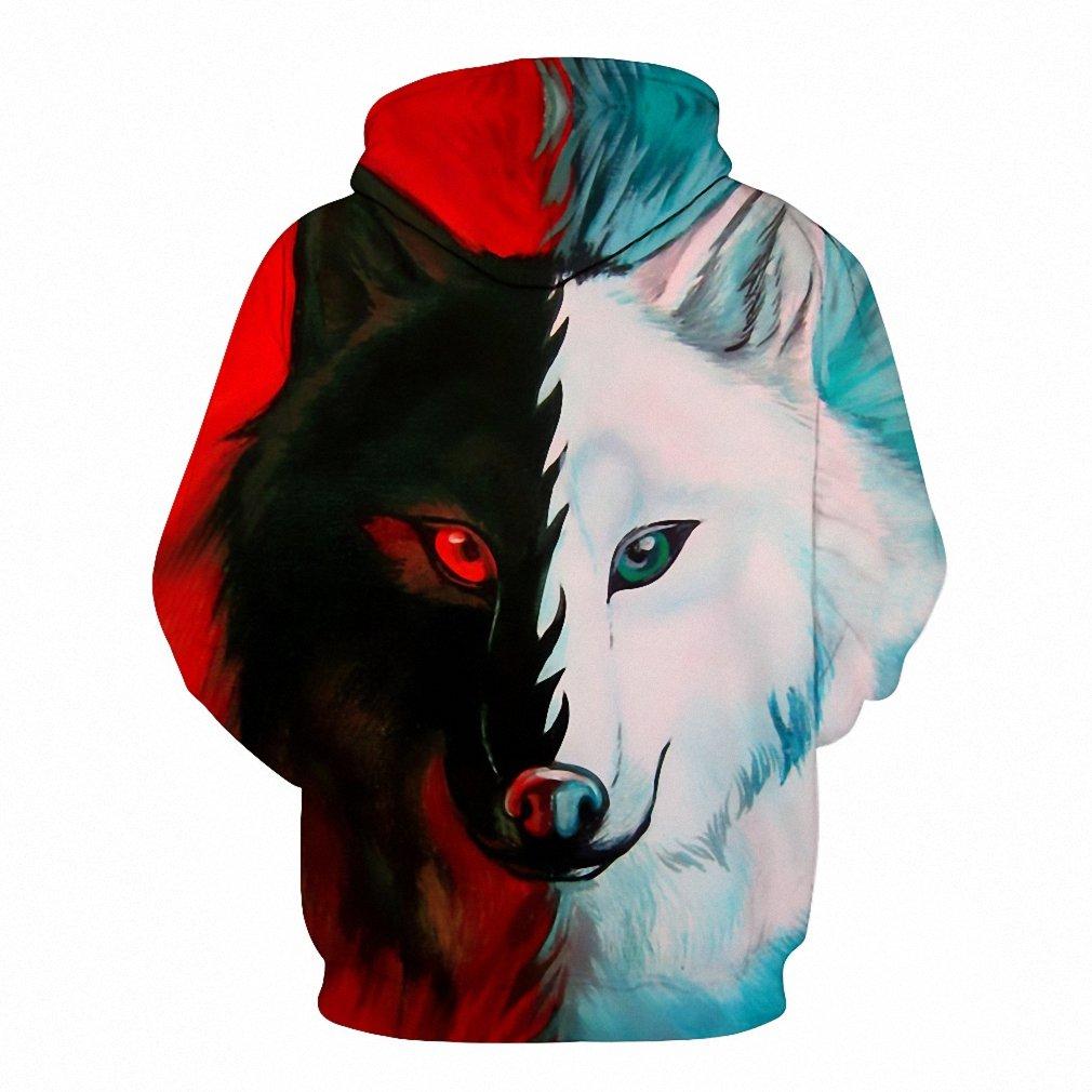 Wolf Hoodies Sweatshirts Women Men 3D Printed Hoodies ...