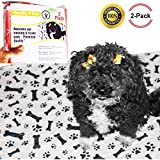 Quality 4ever Waterproof Pee Pads For Dogs, 2 REUSABLE MULTI COLOR, MEDIUM Washable Training, Whelp Pads, For Travel- Home, Crate Premium