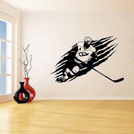 jiuyaomai Jugador de Hockey Pegatinas de Pared para la Sala de ...