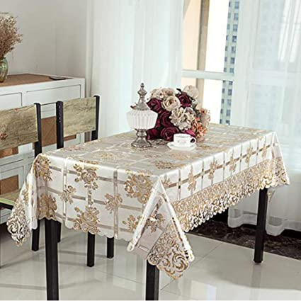 Crochet Tablecloth Indoors Outdoors PVC Vintage Style Lace