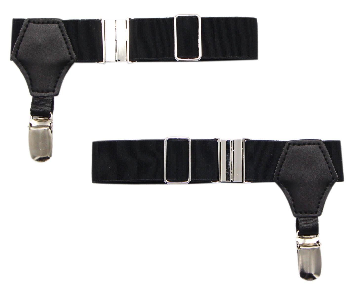 JAIFEI Premium 2-Pack Sock Holders- The Sturdiest Clip Sock Suspenders For Cotton & Silk Socks (Black)