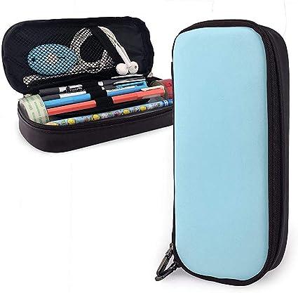 Cono de helado azul Lindo bolígrafo Estuche para lápices Cuero Gran capacidad Cremalleras dobles Bolso para lápices Bolso Estuche para lápices 20cm * 9cm * 4cm: Amazon.es: Oficina y papelería