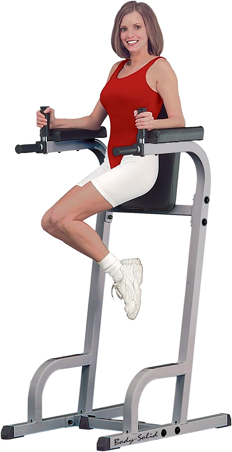 Body-Solid Vertical Knee Raise with Dip Station