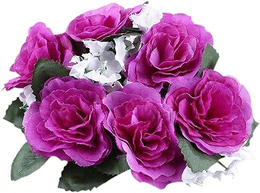 Flores artificiales flores soporte para velas de boda decoración ...