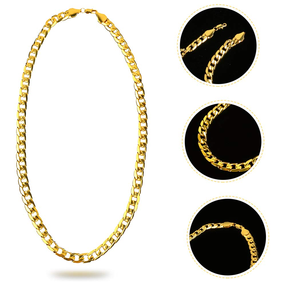 Beelittle 80s/90s Hip Hop Costume Old Style Cool Rapper Outfits - Bucket Hat Oversized Black Sunglasses Gold Plated Chain (A) by Beelittle (Image #4)
