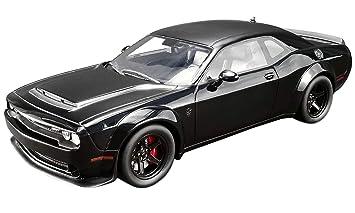 Amazon Com 2018 Dodge Challenger Srt Demon Pitch Black 1 18 Model