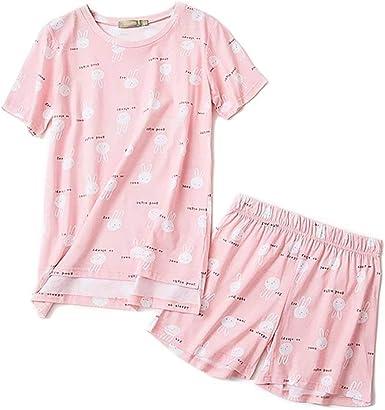 Pijamas Cortos De Algodón De Verano para Casuales Conjunto ...