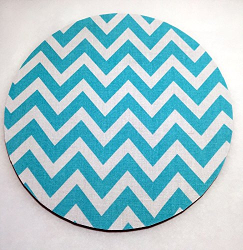 Amazon Com Teal Blue Chevron Mouse Pad Fabric Covered Office