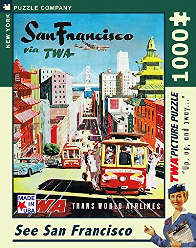 New York Puzzle Company   American Airlines San Francisco   1000 Piece Jigsaw Puzzle