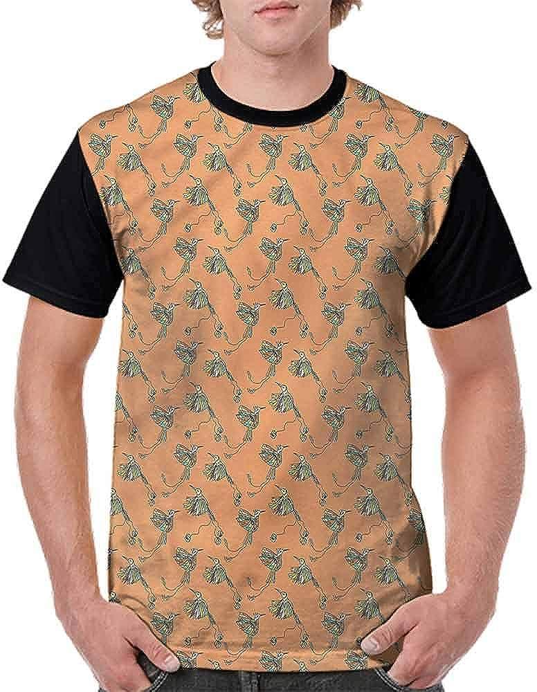 Trend t-Shirt,Flying Birds Ornament Fashion Personality Customization