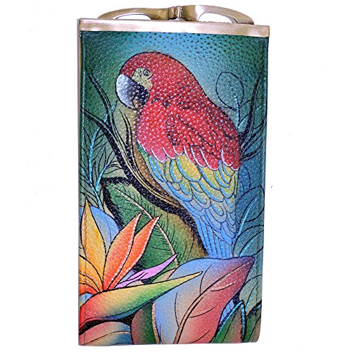 Anuschka Genuine Leather Hand Painted Eye/Sunglass Case (Tropical Bliss)