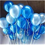 AMFIN 10-inch Metallic Balloons Light Blue for Birthday Decoration - Pack of 50