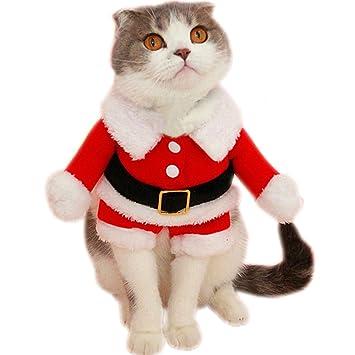 Amazon.com: Bolbove - Disfraz de Papá Noel para mascotas ...