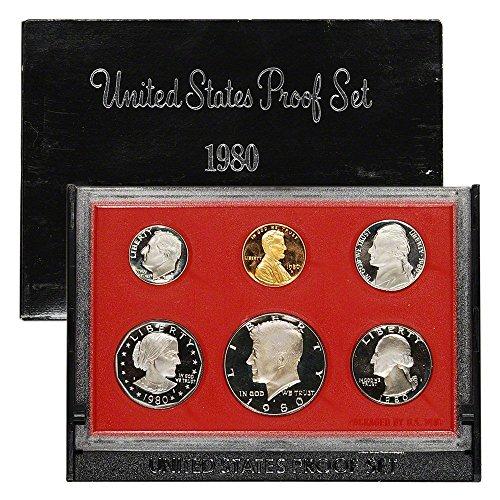 1980 S US Mint 6-piece Proof Set with SBA Dollar OGP Proof ... DCAM ()