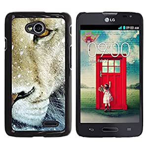 Paccase / SLIM PC / Aliminium Casa Carcasa Funda Case Cover para - Lion Snow Winter Animal King Nature - LG Optimus L70 / LS620 / D325 / MS323