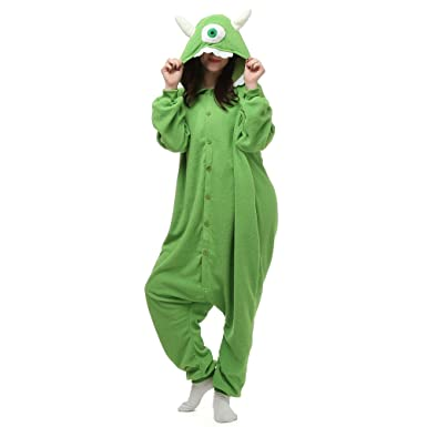fa4c244761e9 Amazon.com  Mike Wazowski Adult Onesie. Animal Pajama Costume for  Teenagers