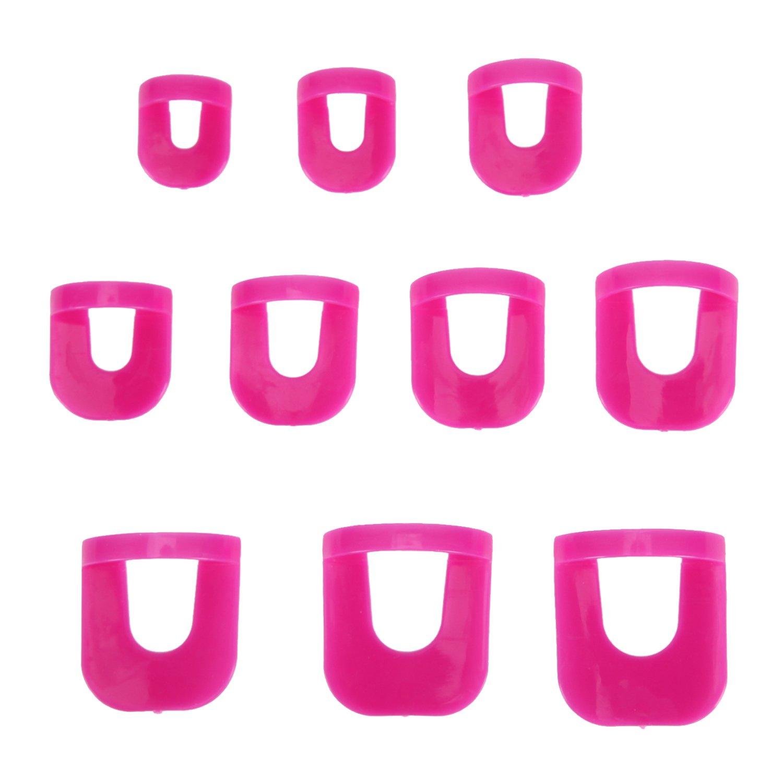 Chnli Women/Girl 26pcs Nail Polish Stencil Protectors Nails Edge Skin Nail Art Accessories Reusable