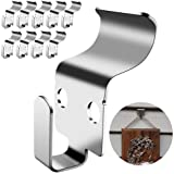 No-Hole Vinyl Siding Hooks - Heavy Duty Stainless Steel No-Hole Hanger Easy and Quick Solution to Hanging Decorative…