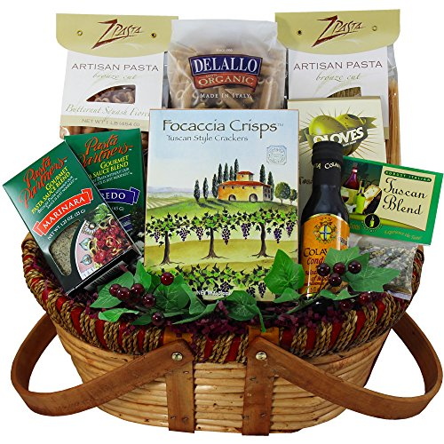 Mama Mia! Grand Italian Pasta Feast Gourmet Food Gift Basket (Gift Baskets Of Italian Foods)