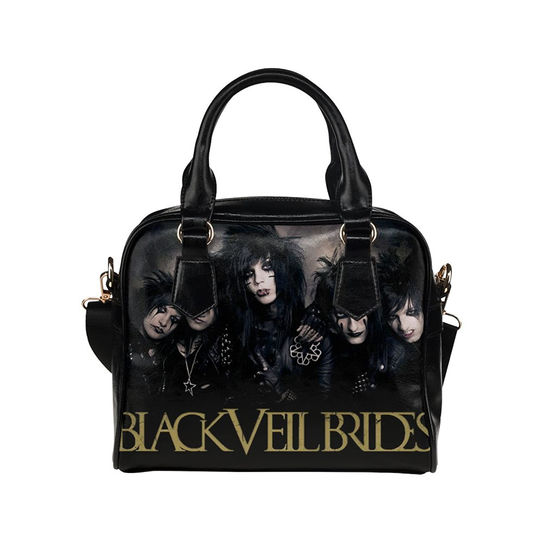 Fashion Tote Handbag Leather Black veil brides Shoulder Handbag
