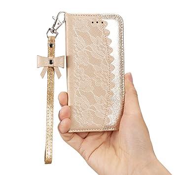 89f1052ad ZCDAYE Funda iPhone 6 Plus Carcasa,iPhone 6S Plus Carcasa,Lujo Bling  Glitter [Cierre Magnético][Mona ...