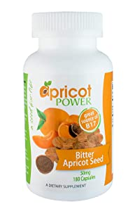 Apricot Power - 50mg Apricot Caps - Organic, Vitamin Rich - 180 Count