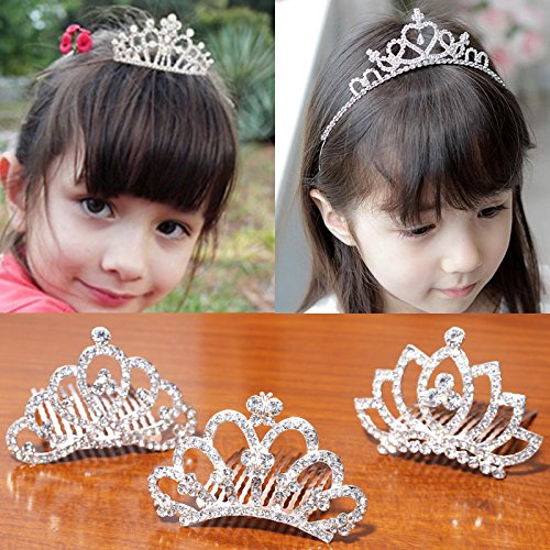 Price comparison product image Quantity 1x children 's_ Crown Tiara Party Wedding Headband Women Bridal Princess Birthday Girl Gift Princess Headband Hair Ornaments Headdress _plastic_ Crown Tiara Party Wedding Headband Women Brida