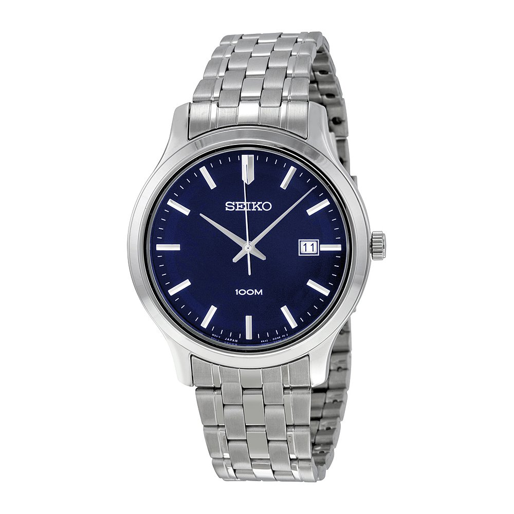 Amazon.com: Seiko SUR143 Mens Stainless Steel Siver Bracelet Band Blue Dial Watch by Seiko Watches: Seiko: Watches
