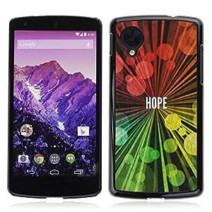 Paccase / Dura PC Caso Funda Carcasa de Protección para - BIBLE Hope - LG Google Nexus 5 D820 D821