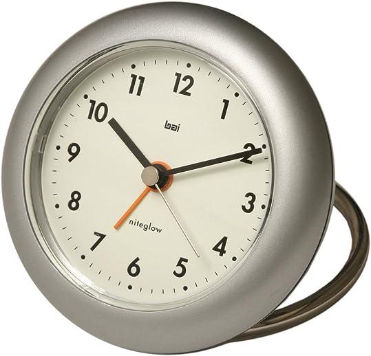 BAI Rondo Travel Alarm Clock, Futura Silver