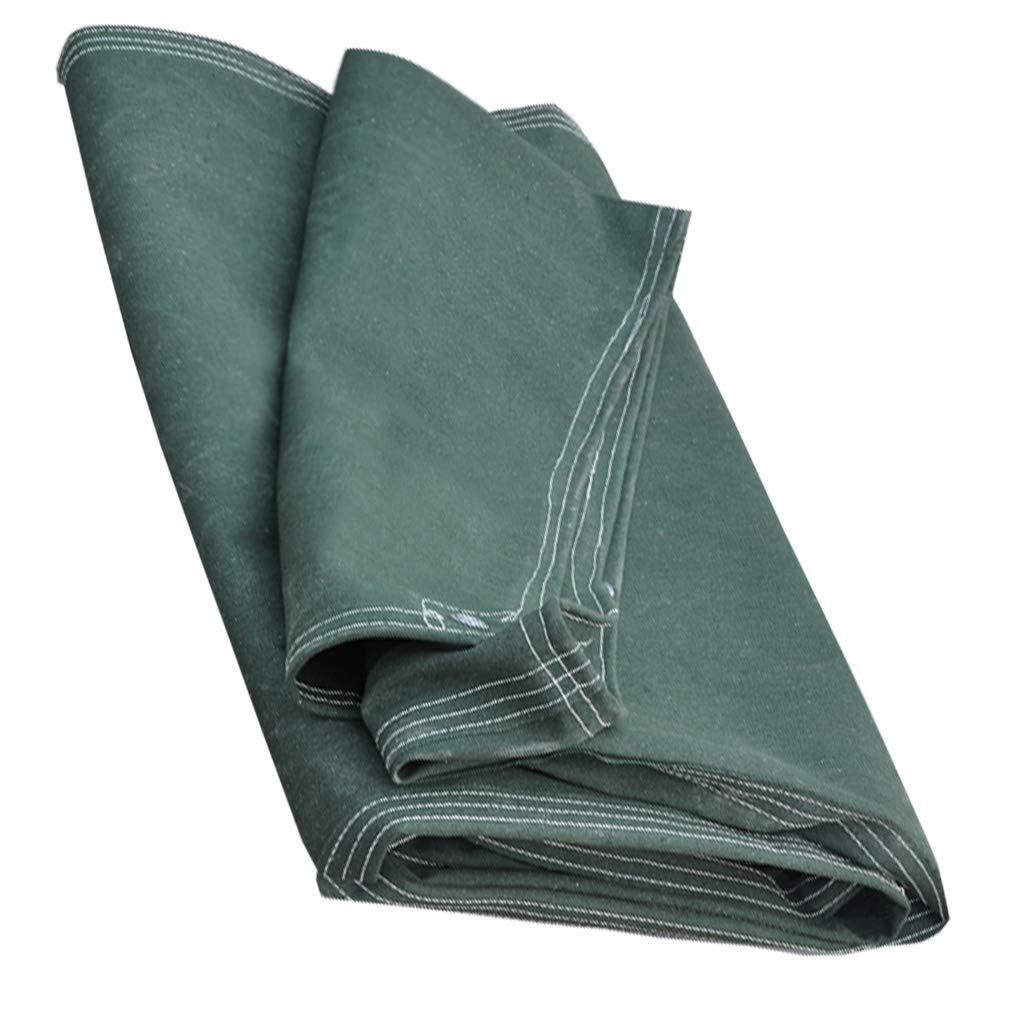 Planen-LKW-Markise Sonnencreme-Regenschutz-Verschlüsselung Plastikschuppen-Baumwollsegeltuch-Plane wasserdichter Hochleistungsgarten-Camping feuchtigkeitsfestes Grün (größe : 3x4m)