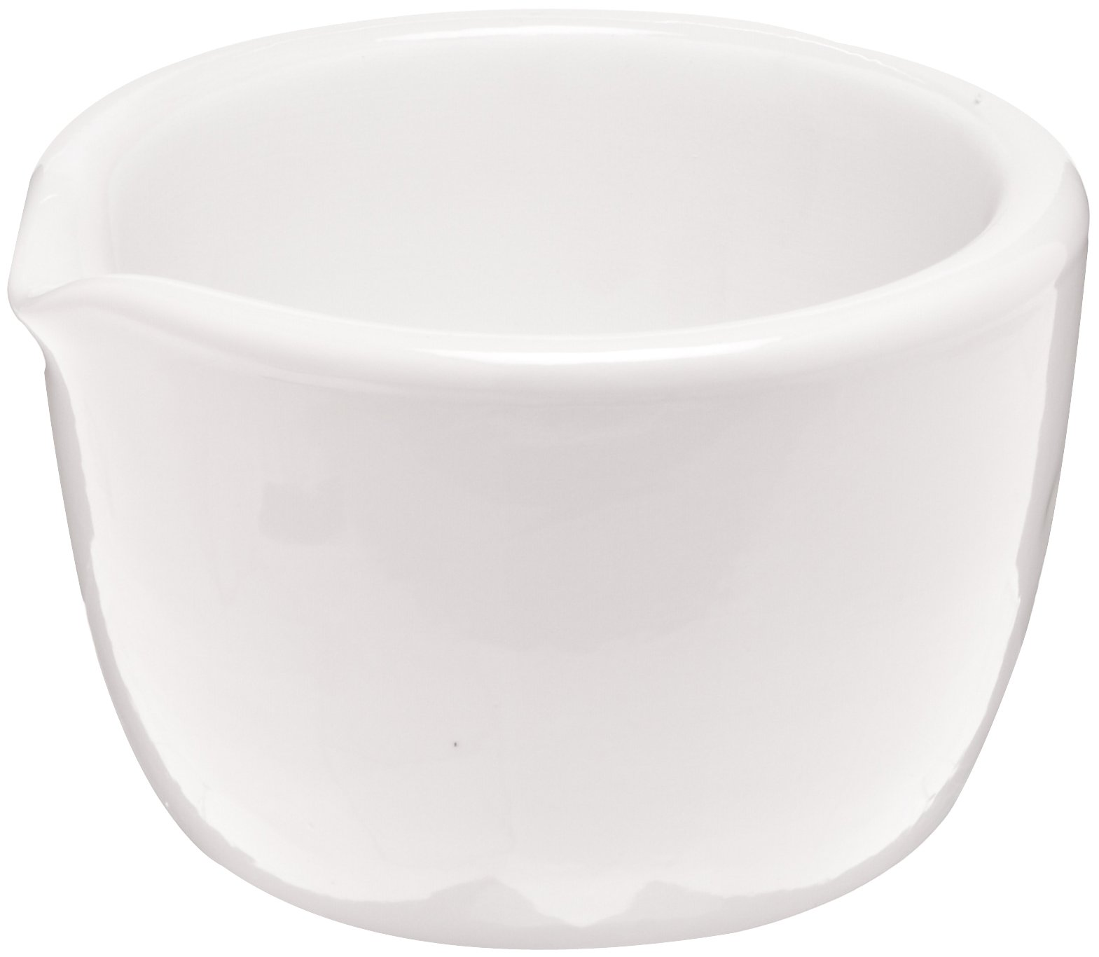 CoorsTek 60325 Porcelain Ceramic Mortar with Pouring Lip, 750mL Capacity, 163mm OD, 110mm Height (Case of 4)
