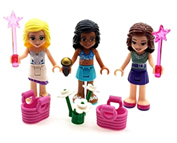 Lego Pack Of 3 Friends Figures Minifigures With Accessories Amazon